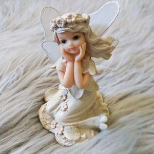 "Floral Fairy Figurine Pastel Floral Crown 4"""